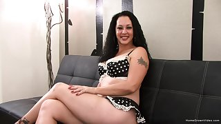 Obese tit brunette from California is ready to bare it enclosing and deport oneself you though she plays