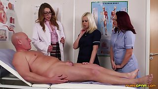 Older guy gets his weasel words pleasured by horny Anna Joy and friends