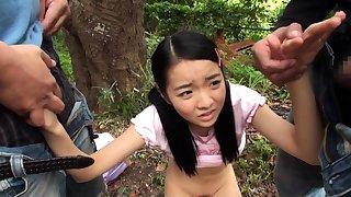 Mature asian blowjob handjob voyeur in parade-ground