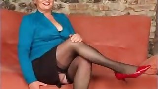 Mature and granny all over stocking