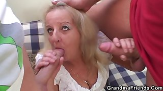 The Old Woman Was Carried Away By Young Prana And Gave Herself A Fuck