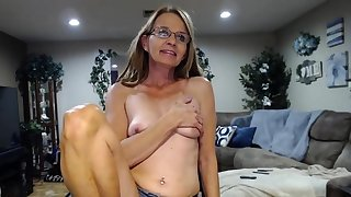 Cute saggy boobs granny insusceptible to cam