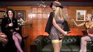 Natasha Marley and Lauren Rosario close by a pornstar FFM threesome
