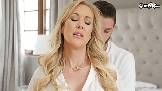 Handsome gigolo bangs killing hot busty lady Brandi Love and cums in her pussy