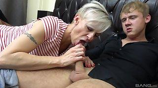 Martina Steskalova and Gerlinda Spalova sucking several enduring dicks