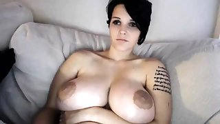 Busty MILF toys will not hear of pussy on webcam