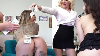 Very casual dude enjoys fucking his slutty wife Karma RX and her friends