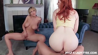 Dee Williams oozes see-through cum after FFM fuck with Lass Fyre