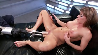 Fuck machine solo experience be proper of the steamy mommy