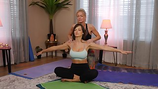 yoga naming drives these chicks regarding a crazy oral play