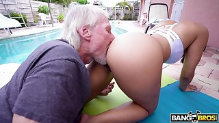 Hypnotizing PAWG Kosame Innervation is fucked hard apart from old timer